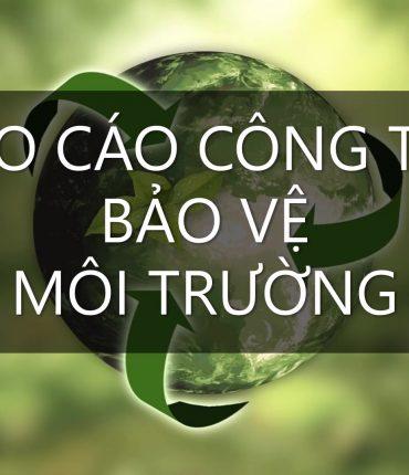 báo cáo công tác bảo vệ môi trường